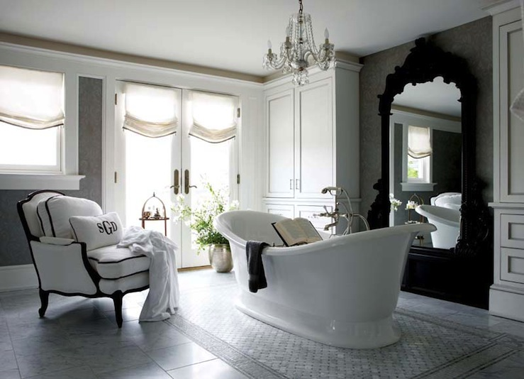 Rococo Mirror French Bathroom New England Home