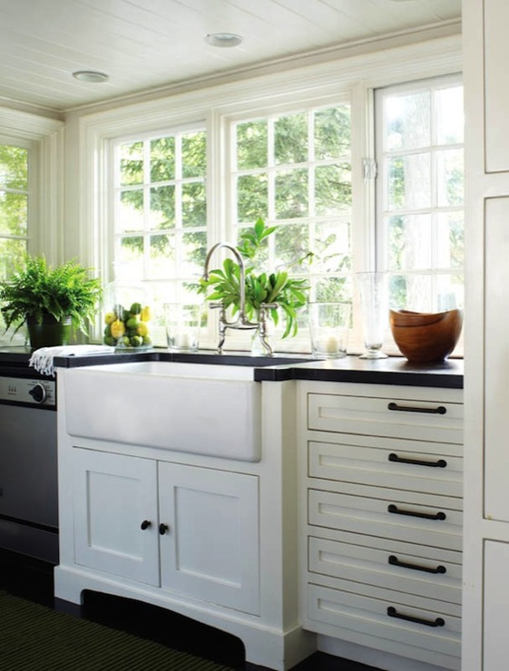 wonderful Black Pulls For Kitchen Cabinets #3: white cabinets with oil rubbed bronze hardware design ideas