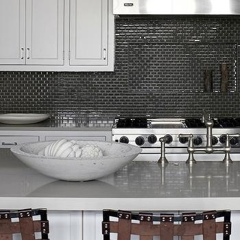 Gray Countertops, Contemporary, kitchen, New England Home