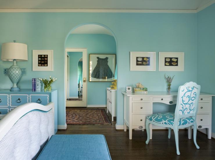 Turquoise Bench Eclectic Girl S Room Coddington Design