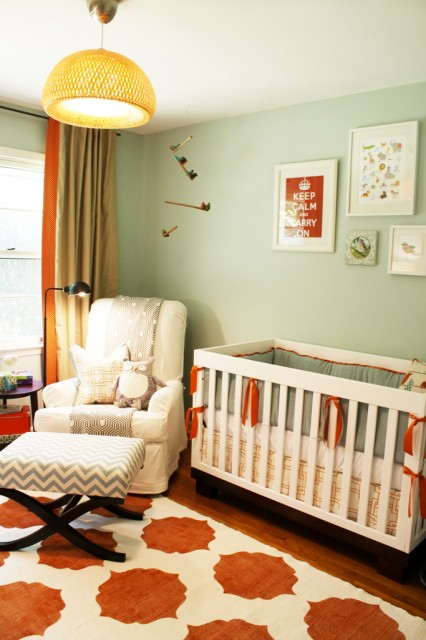 Gender Neutral Nusrery Contemporary Nursery Sherwin