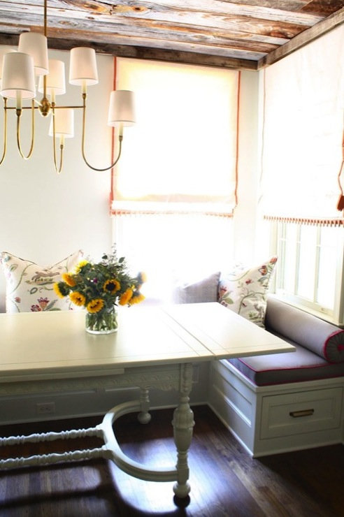 Built In Banquette, Transitional, dining room, Nest Egg