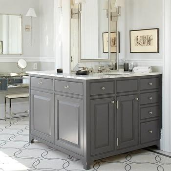 Double Sided Bathroom Vanity