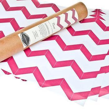 Hammocks & High Tea Pink Chevron Drawer Liners