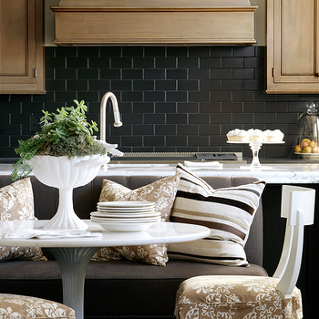 Black Subway Tile, Contemporary, kitchen, Bear Hill Interiors