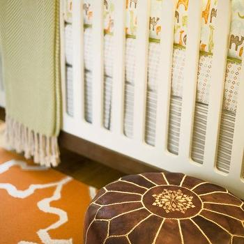 Orange and Brown Nursery, Contemporary, nursery, Amanda Teal Design