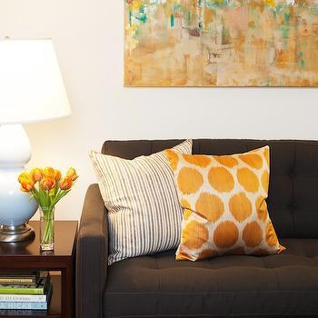 Petrie Apartment Sofa, Contemporary, living room, Amanda Teal Design