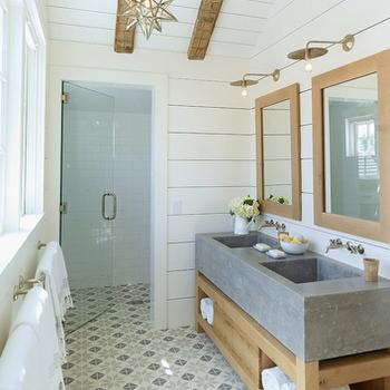 Concrete Sink, Cottage, bathroom, M. Elle Design