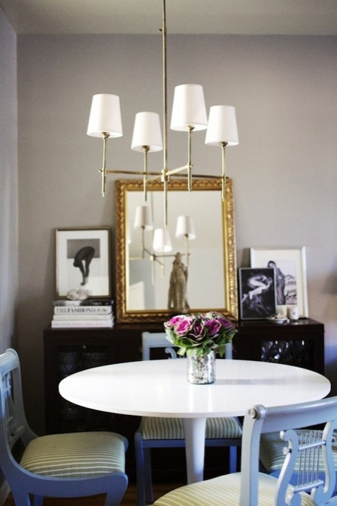 Gold And Gray Dining Room Decor