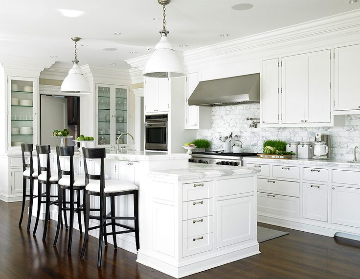 White Shaker Cabinets, Transitional, kitchen, Diana Sawicki Interior Design