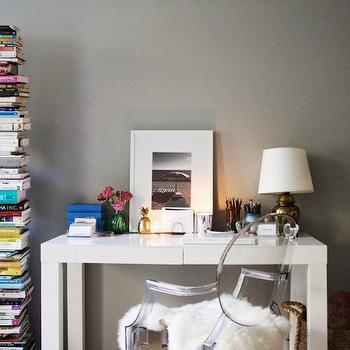 Gray Walls, Contemporary, den/library/office, Ralph Lauren Forde Abbey, The Glitter Guide