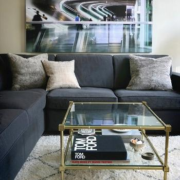 Brass Coffee Table, Contemporary, living room, Erika Brechtel