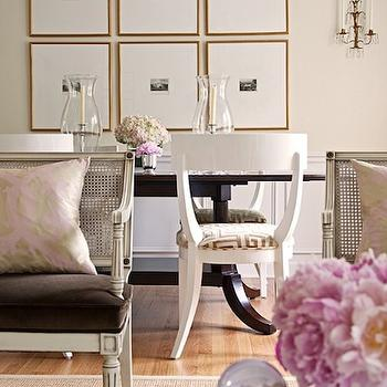 White Klismos Chairs, French, dining room