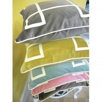 Charcoal Velvet Regency Pillow