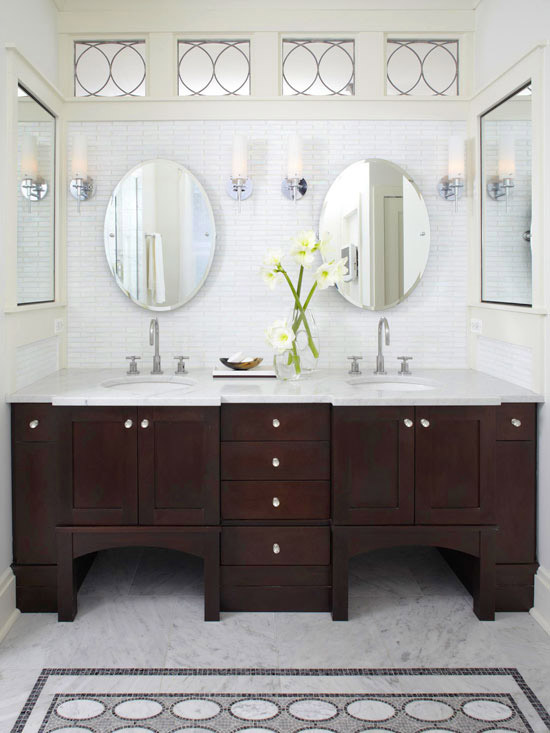 Espresso cabinets contemporary bathroom bhg for Espresso bathroom ideas