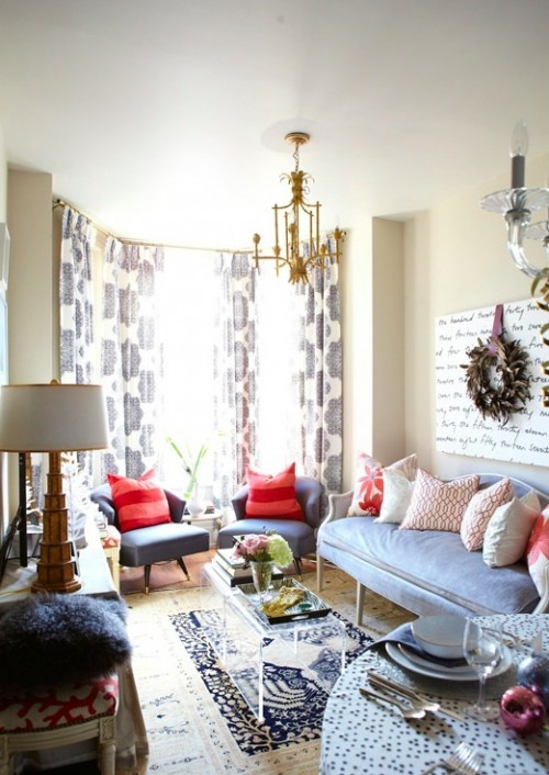 Gorgeous Eclectic Living Room With Sand Beige Walls Paint Color