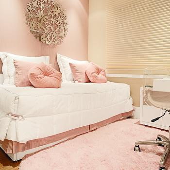 Pink Girl's Bedroom, Contemporary, girl's room