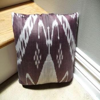 purple & denim ikat pillow, Textiles, RUMMAGE