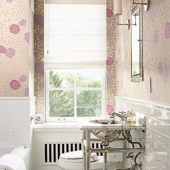 Wallpapered Bathroom, Transitional, bathroom, BHG