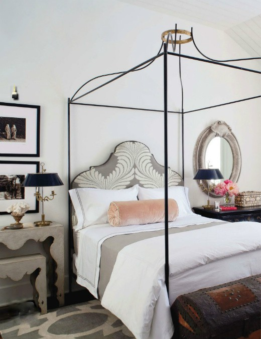 gray and pink bedroom transitional bedroom benjamin moore white dove veranda. Black Bedroom Furniture Sets. Home Design Ideas
