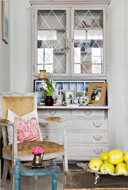 lovely living room desk | Gray Secretary Desk - French - living room - Ralph Lauren ...