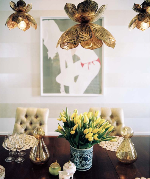 Jamie young flowering lotus pendant eclectic dining room sara jamie young flowering lotus pendant aloadofball Image collections