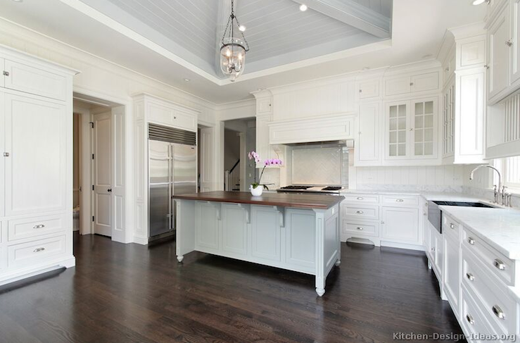 Gray Center Island Transitional Kitchen Kitchen