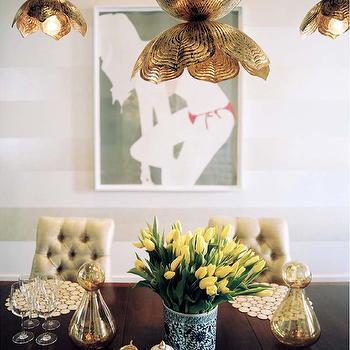 Jamie Young Flowering Lotus Pendant, Eclectic, dining room, Sara Gilbane Interiors