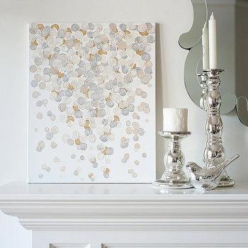 16x20 Canvas Painting Confetti Metallic by luluanddrew on Etsy