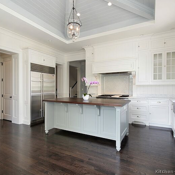 Gray Center Island, Transitional, kitchen, Kitchen Design Ideas