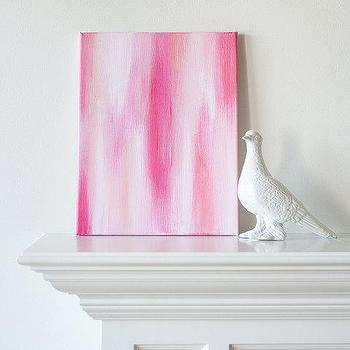11x14 Canvas Painting Ikat Pink by luluanddrew on Etsy