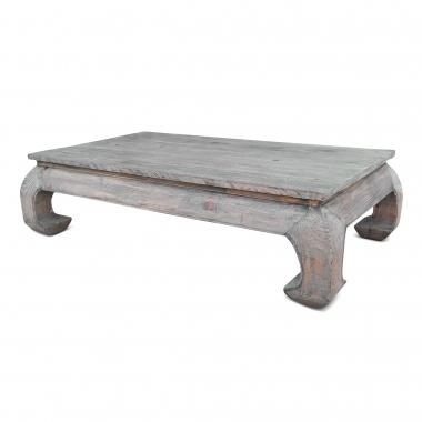 Grey wood coffee table south of market for Gray wood and metal coffee table