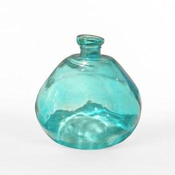 Small Round Blue Glass Bottle, South of Market