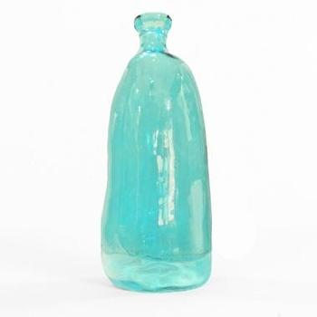 Tall Blue Glass Bottle, South of Market