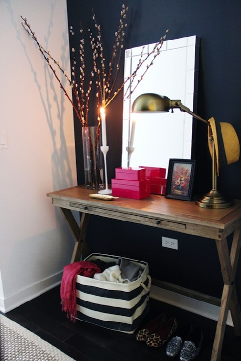 X Base Console Table, Transitional, entrance/foyer, The Every Girl