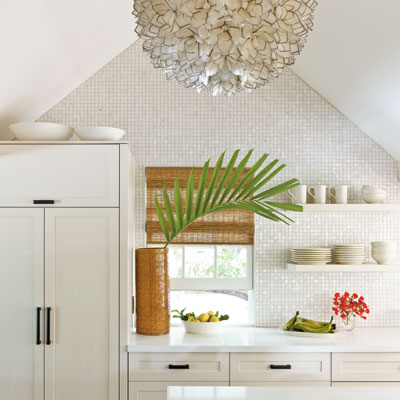 Lotus flower chandelier design ideas for Key west style kitchen designs