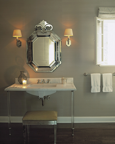 Mirrored Bench View Full Size Stunning Gray Bathroom Design With Venetian