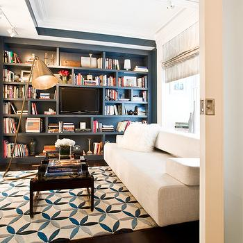 Wall of Built In Cabinets, Contemporary, media room, Modern Declaration