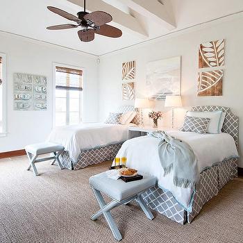 Shared Girls' Room, Cottage, girl's room, Elizabeth Newman Interior Design