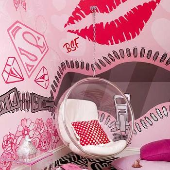Pink Girl's Room, Contemporary, girl's room, Modern Declaration