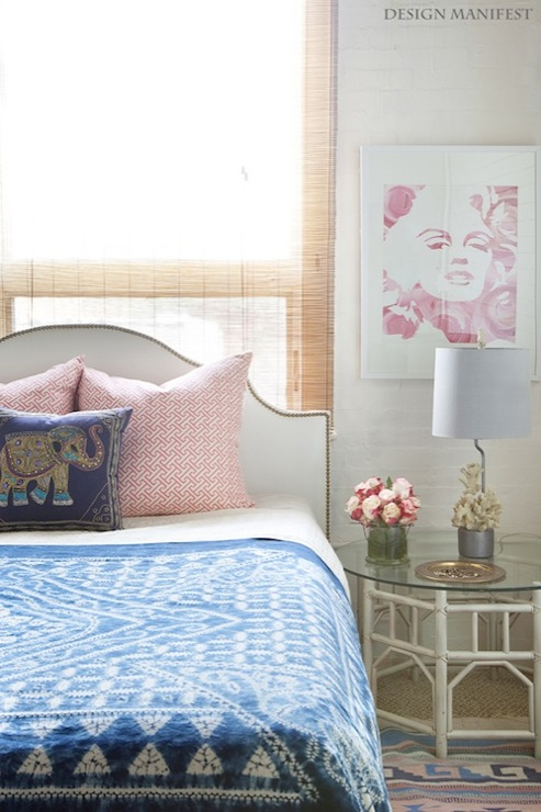 Studded headboard eclectic bedroom design manifest for Bedroom ideas urban outfitters