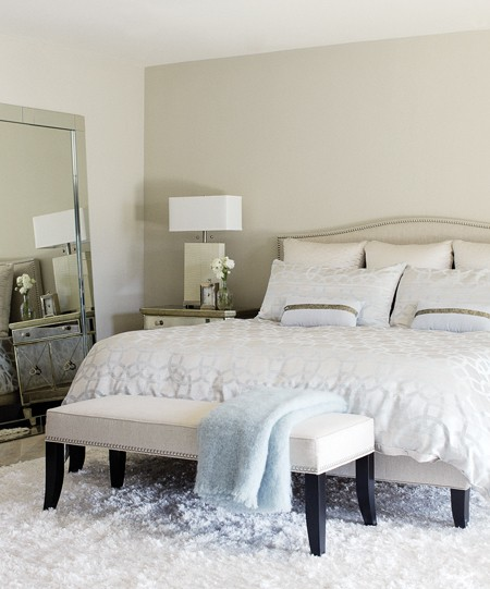 crate and barrel colette bed - transitional - bedroom - titan and co