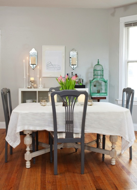 Gray Walls Contemporary Dining Room Behr Dolphin Fin Live Creating Yo