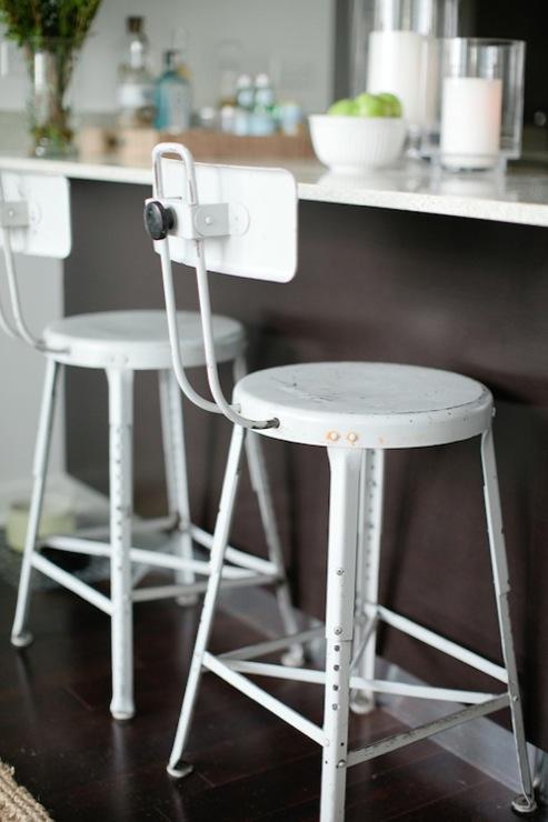 Industrial Bar Stools Contemporary Kitchen Breakfast