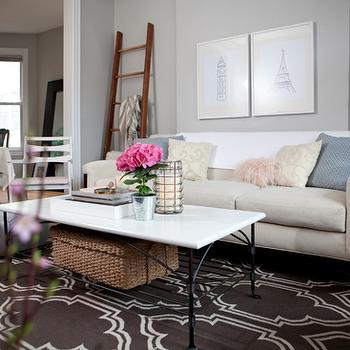 Trellis Rug, Contemporary, living room, Behr Dolphin Fin, Live Creating Yourself