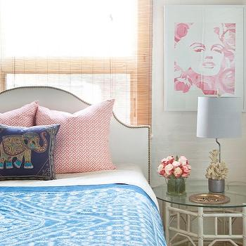 Studded Headboard, Eclectic, bedroom, Design Manifest