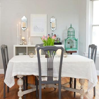 Gray Dining Chairs, Transitional, dining room, Behr Dolphin Fin, Live Creating Yourself