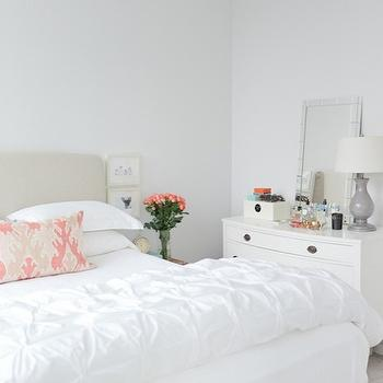 West Elm Pin Tuck Shams Transitional Bedroom