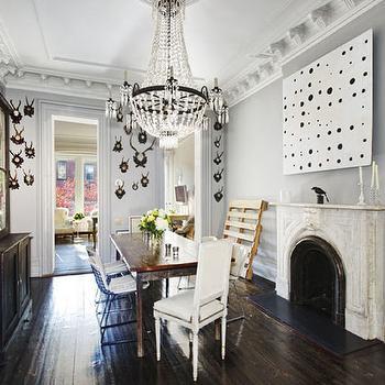 Orante Crown Molding, Contemporary, dining room