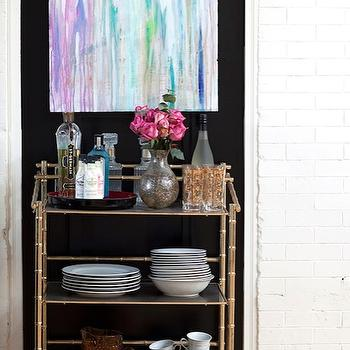 Bamboo Bar Cart, Eclectic, dining room, Design Manifest